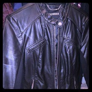 Cute women's faux leather Jacket!! Express